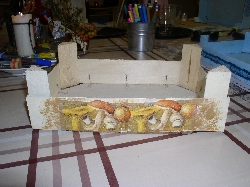 Dekorovanie drevených debničiek